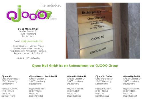 контакты компании oJooo